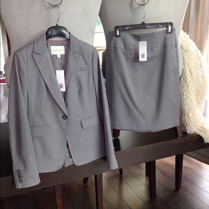 Brand new Banana Republic Gray Skirt Suit